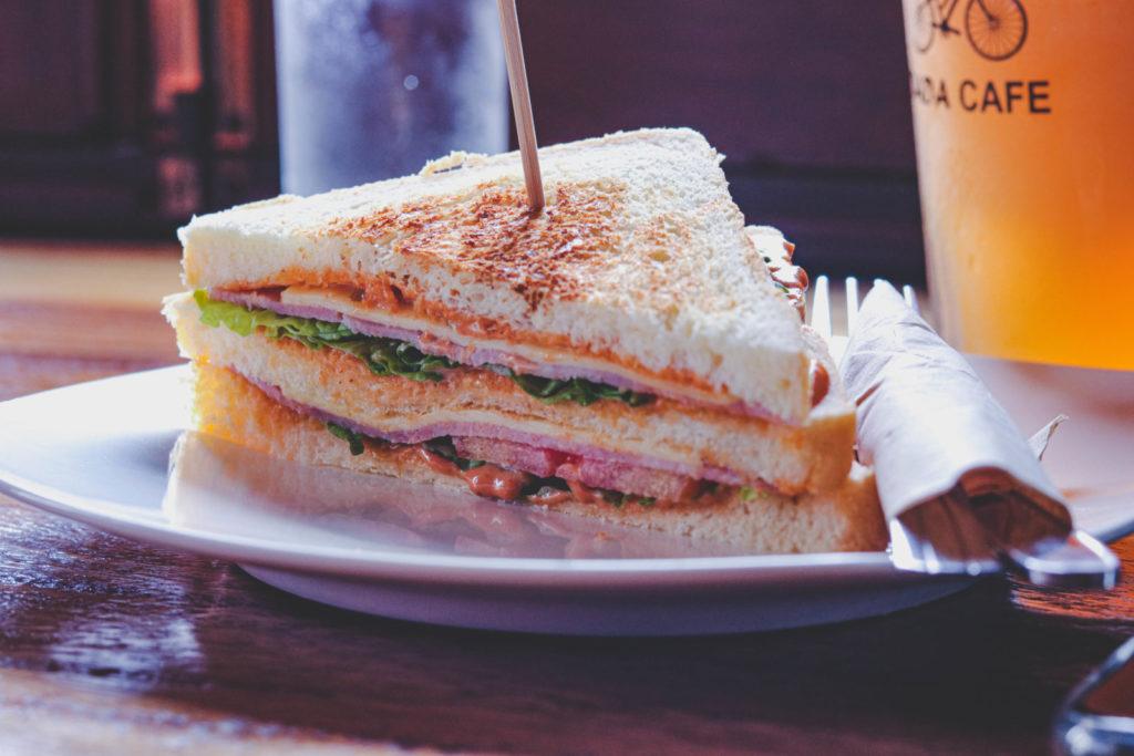 Veganistische Club sandwich